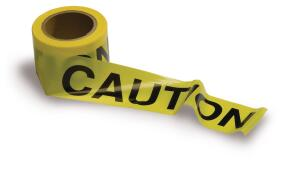 Caution tape comes in various thicknesses and lengths, which affects cost.
