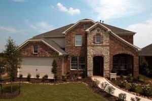 A Centex Energy Advantage home in the Lakes of Cypress Landing development in Cypress, Texas.