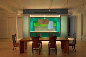Marina Abramovic's loft in New York, designed by Dennis Wedlick Architect. Photo courtesy of Dennis Wedlick Architect.