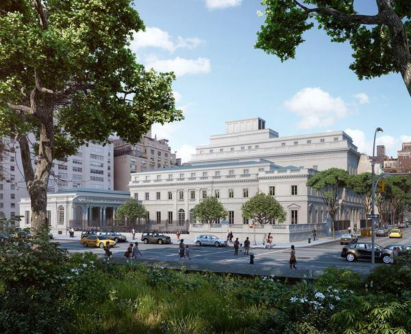 Artist's rendering of The Frick Collection expansion plan, viewed from Fifth Avenue.