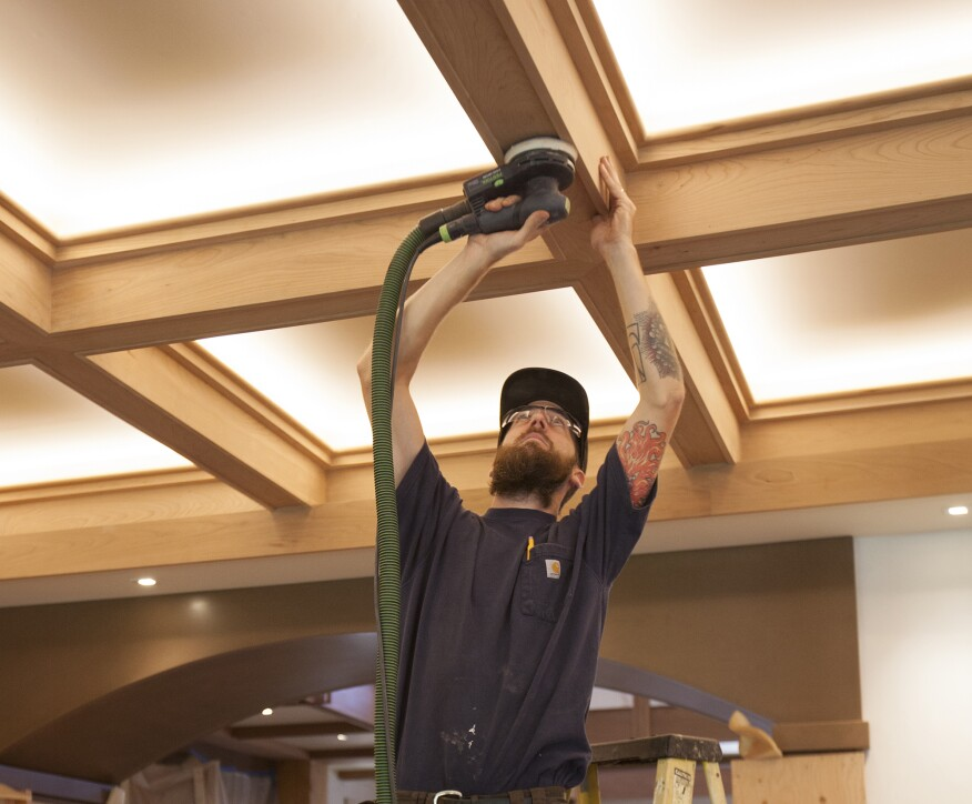 A Craftsman Style Coffered Ceiling