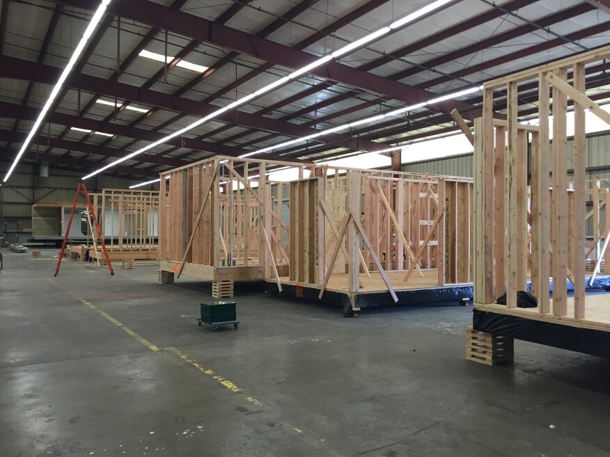 Plant Prefab's 61,000-square foot factory in Rialto, Calif. is booked up with projects through the end of the year.
