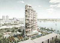 A rendering of the condo tower planned for 1515 South Flagler Drive.