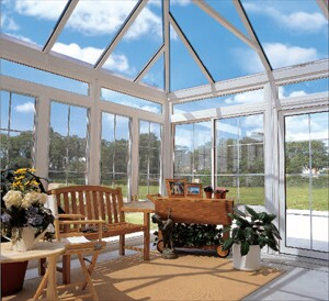 Conservatories, like this one from Four Seasons Sunrooms, remain a niche product.
