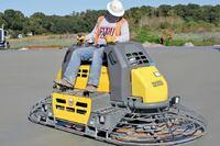 Wacker's Hydraulic ride-on trowel