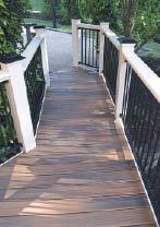 Figure 5. Extending a walkway through a garden ties the deck to the landscape.