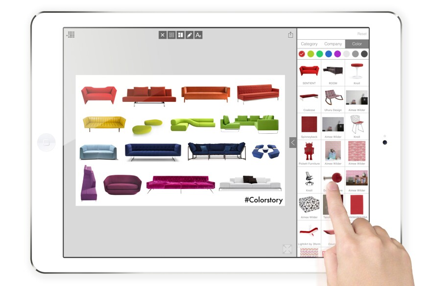 Users can create digital inspiration boards on Board, by Morpholio Apps.
