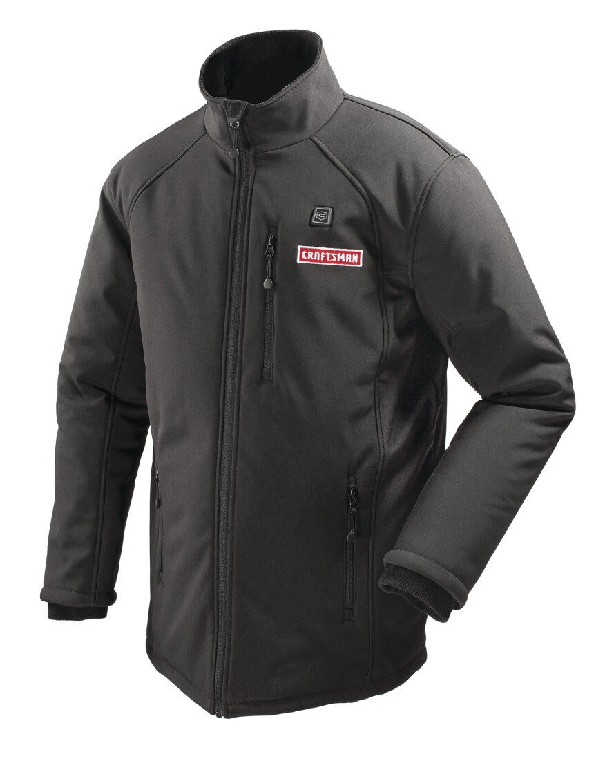 The Craftsman 12V Heated Jacket has a plush full body fleece lining