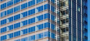 Laminated Low-E (VLE) 57 glass    Viraconwww.viracon.com  Blends strength of laminated glass with energy performance of low-E technology - Provides a low shading coefficient and low solar heat gain coefficient - Visible light transmittance ranges from 28 percent to 59 percent - Available with polyvinyl butyral (PVB) interlayers of various thicknesses and with Vanceva Storm and StormGuard products