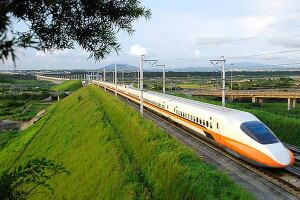 High-speed rail train in Taiwan.