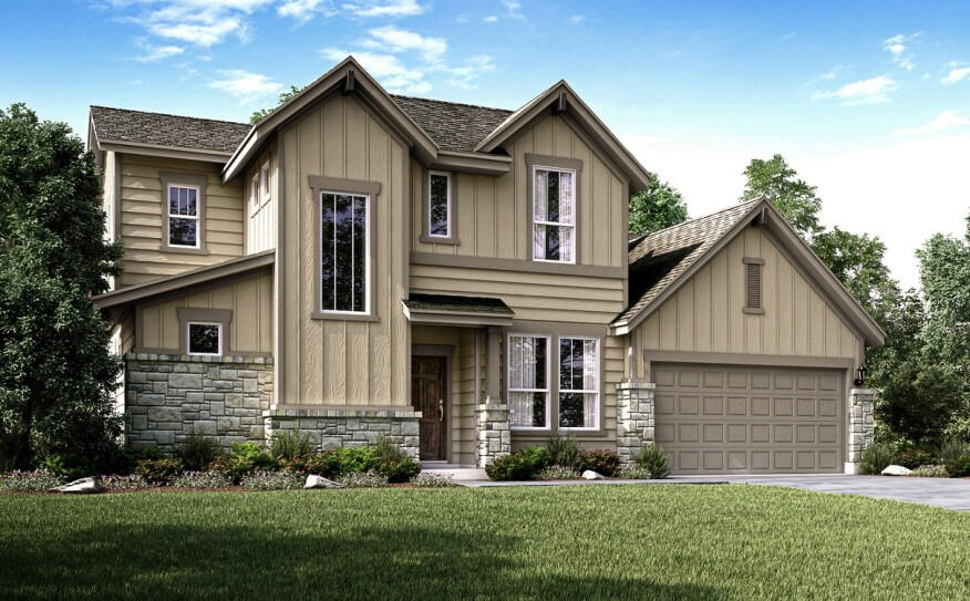 A rendering of a Century Communities-built home in The Cottages community.