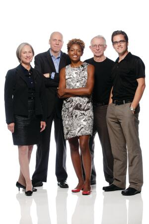From left to right: Donna Robertson, Scott Kilbourn, Yolande Daniels, Bill Valentine, John Cary
