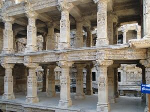 Arches like these at the Rani-ki-Vav stepwell form shaded hideaways for visitors.