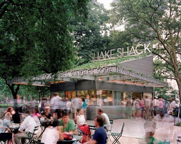 SITE's Shake Shack in New York's Madison Square Park.