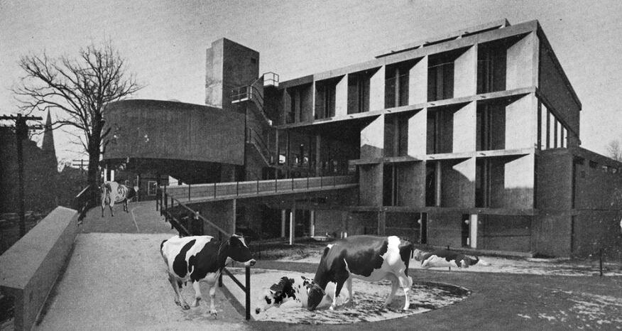 The Cowpenter Center, a study of Le Corbusier's Carpenter Center rendered as an abattoir.