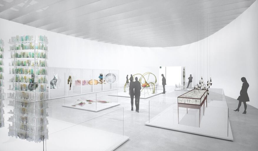 Permanent collections on display in the east gallery of the new North Wing.
