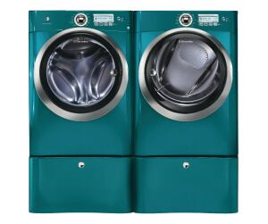 Electrolux. The Wave-Touch (EWFLW65H) full-size washer is rated at a 2.31 MEF and 3.9 WF (28% and 92% better than current minimums, respectively), resulting in energy savings of 83% and water savings of 56% compared to conventional machines. The large-capacity (4.7-cubic-foot) tub allows larger and fewer loads. The washer offers a 1,350-rpm spin cycle and features an integral water heater and stainless steel drum. Fast wash and dry cycles complete loads in 18 minutes. 877.435.3287.  www.electroluxappliances.com.
