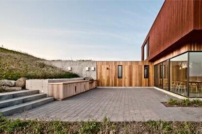 Entry terrace.