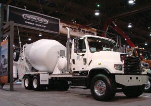 Freightliner Trucks displayed its newest mixer equipment at 2015 World of Concrete.