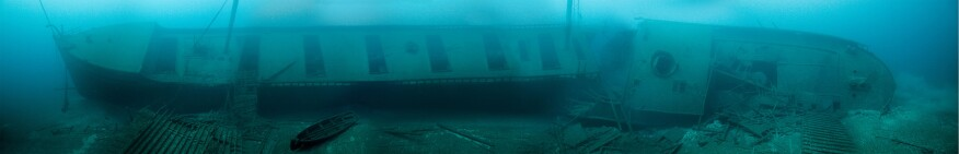 The wreck of the bulk freighter Norman, which sank in 1895 in Lake Huron near Thunder Bay
