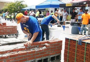 SPEC MIX Bricklayer regional competition in Florida.