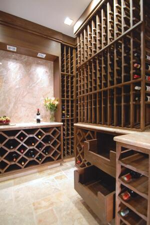Exacting Work  Kirkpatrick worked for a wine cellar builder, so heís well-schooled in all aspects of storage. Though cellars are not a high-profi t item, he enjoys the challenge of designing them.