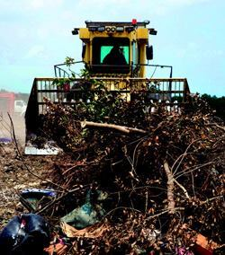 The world of solid waste is getting both smaller and larger: There are fewer  landfills today than 30 years ago, but individual landfills are getting bigger. In  the early 1970s, about 20,000 landfills operated coast to coast, compared  to a little more than 1700 today—most of which are publicly owned  and operated. Photo: BOMAG