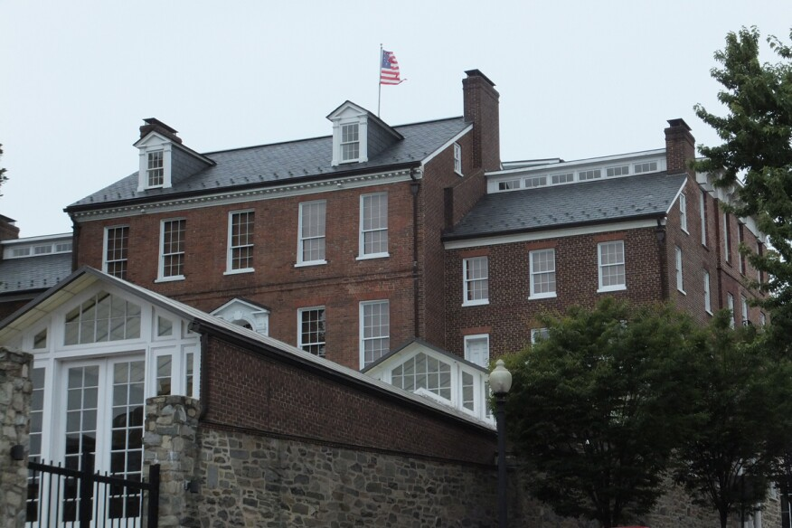 South facade of the Halycon House in Georgetown.