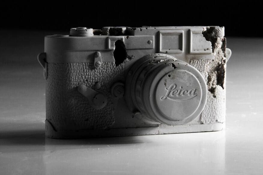Glacial Rock Eroded Leica M3, 2015 by Daniel Arsham
