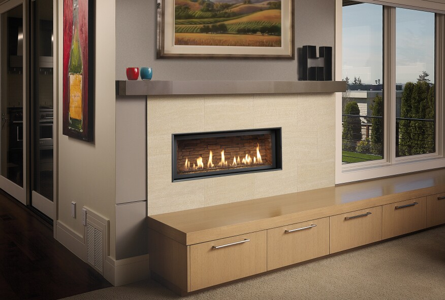 Linear Fireplaces Trend Up—Even Behind Barrier Screens ...