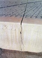 This contraction joint worked perfectly, despite the early entry saw cut being less than an inch deep on a thick slab.