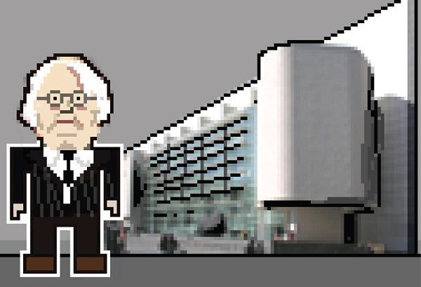 Richard Meier, with the Barcelona Museum of Contemporary Art.