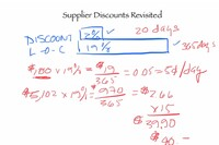 Do the Math - Supplier Discounts Revisited