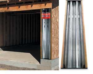 Simpson Strong-Tie's Steel Strong-Wall tackles shear wall requirements for garage corners and walls with large window openings.