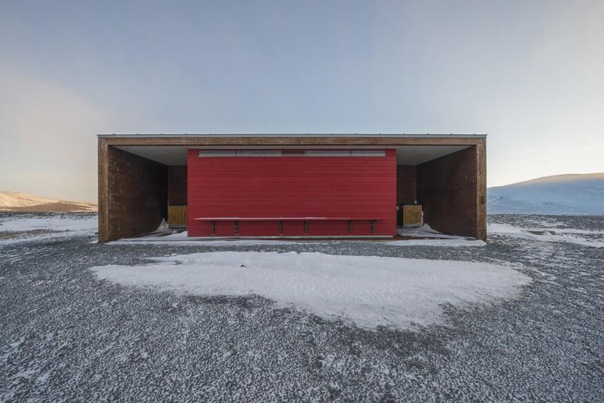 """Out Building 2 at Tverrfjellhytta Reindeer Pavillion"" (Hjerkinn, Norway)"