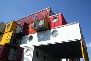 London-based developers Urban Space Management use shipping containers to create Container City, a 22-unit modular building.