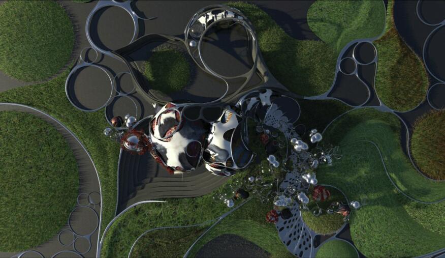 TBA 21 Pavilion aerial rendering.