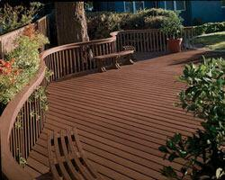 Polyethylene-wood decking by Trex