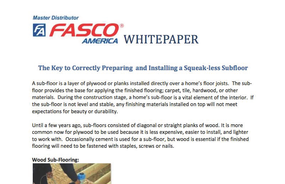 The Key to Correctly Preparing and Installing a Squeak-less Subfloor