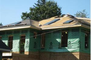 Skylights will help bring in natural light and cut down on electrical loads.