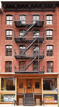 The Lower East Side Tenement Museum at 97 Orchard Street on the Lower East Side of New York.