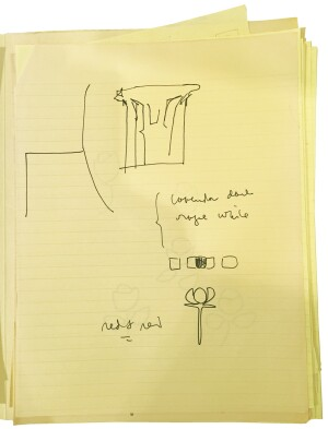 Sketch of a Knoll chair