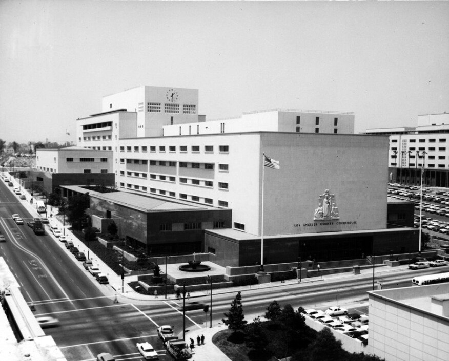 The Williams-designed Los Angeles County Courthouse, 1967