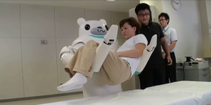 Carebots, robots that care for people, are being developed in Japan.