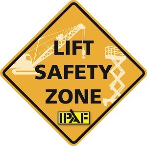 IPAF highlighted this safety message with a dynamic display at the Lift Safety Zone at the CONEXPO-CON/AGG
