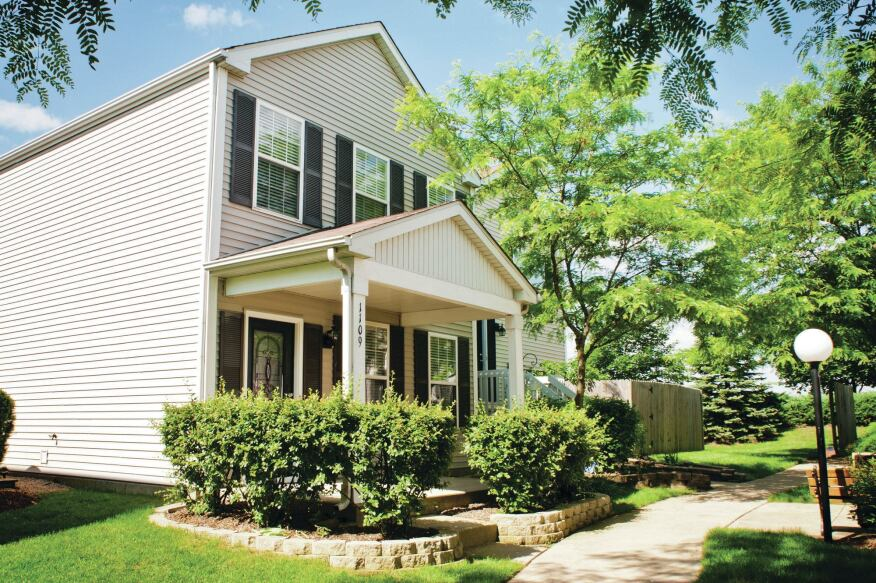 A single-family rental in Aurora, Ill. offered by Starwood Waypoint Residential Trust.