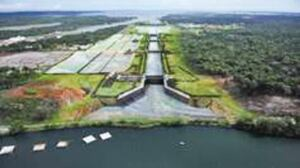 In addition to the exisiting locks, the two new installations on the Atlantic and Pacific coasts repectively, will effectively double the capacity of the Panama canal.