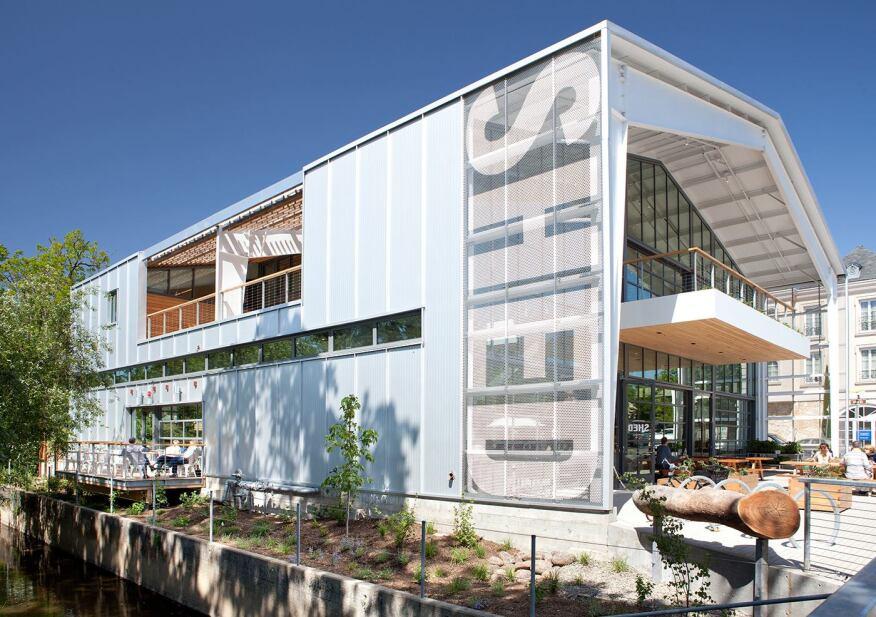 Balconies maximize outdoor space.