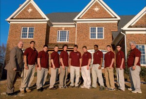 Construction students from Fairfax County, Va., stand before their $2.1 million house.