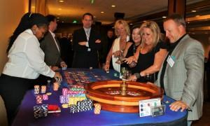 Members enjoy the Casino Royale event, from which all proceeds were earmarked for The Water Project, which sends water to African communities.